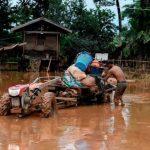 تصاویر اثرات شکسته شدن سد در لائوس