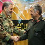 تبریک فرمانده سپاه به فرمانده ارتش