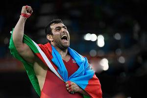 حضور کشتی گیر ایرانی در ترکیب آذربایجان!
