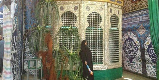 پرده برداری از نیم ضریح حضرت زینب(س) در خیمه گاه کربلا