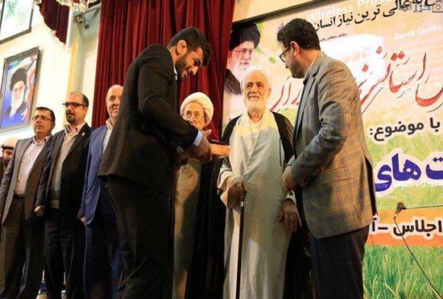 حجتالاسلام قرائتی از قهرمان المپیک تجلیل کرد