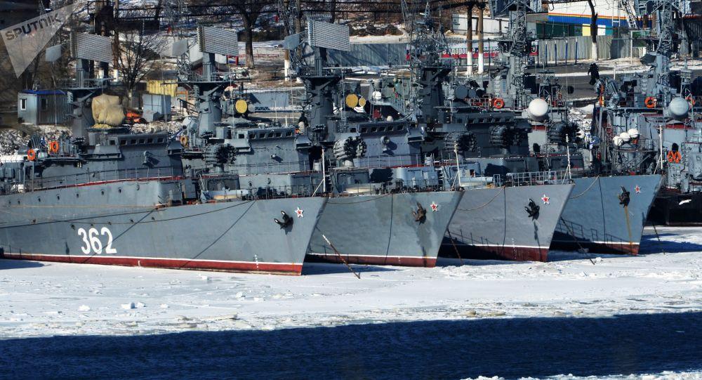 رزمایش مشترک نظامی هند و روسیه با حضور کشتی های ناوگان اقیانوس آرام