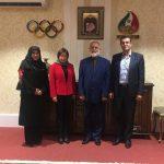 دیدار نایب رئیس فدراسیون جهانی ژیمناستیک با دبیرکل کمیته ملی المپیک