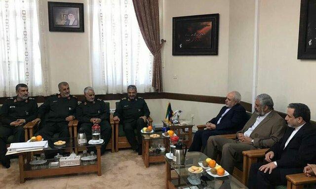 ظریف: دیدار با سرداران عالی رتبه سپاه افتخارآمیز بود