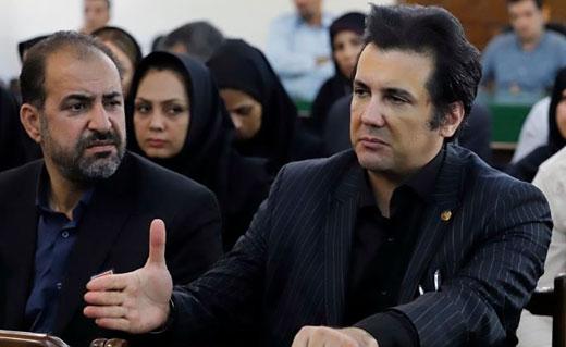حضور نوابصفوی در دادگاه متهمان حادثه دانشگاه آزاد