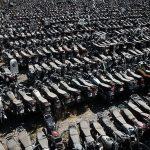 دریای موتورسیکلت در پارکینگهای پلیس/ چرا متخلفین برای ترخیص وسیله نقلیه اقدام نمیکنند؟