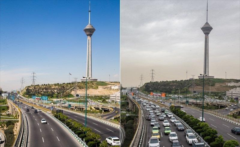 هوای تهران برای گروههای حساس آلوده شد
