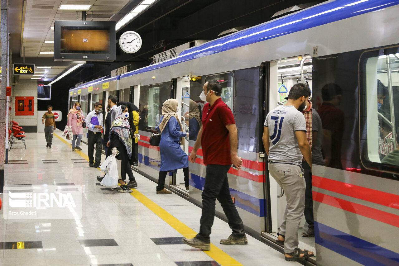 امروز ازدحام مسافران در ایستگاههای مترو