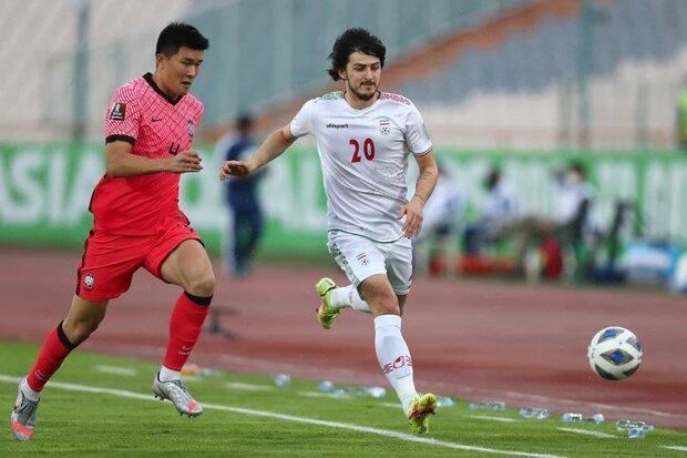 تساوی ایران و کره جنوبی در نیمه نخست/ فرصت خوب طارمی از دست رفت